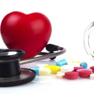 Stethoscope Colseup and Pills